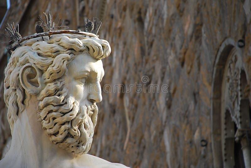 Estatua de Neptuno en Florencia imagenes de archivo