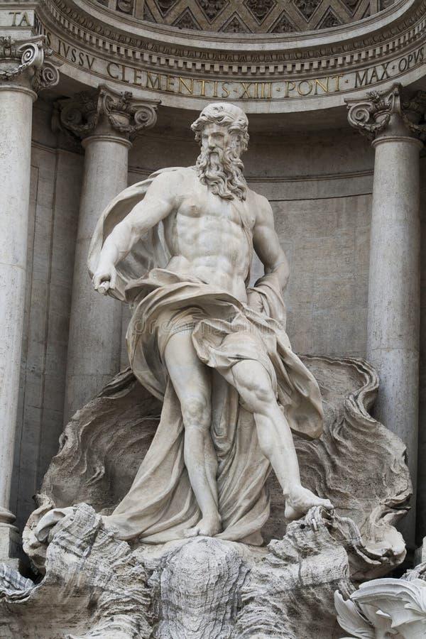 Estatua de Neptuno, fuente del Trevi, Roma fotos de archivo libres de regalías