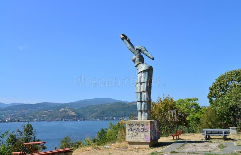 Estatua de Orsova Danubia fotos de archivo