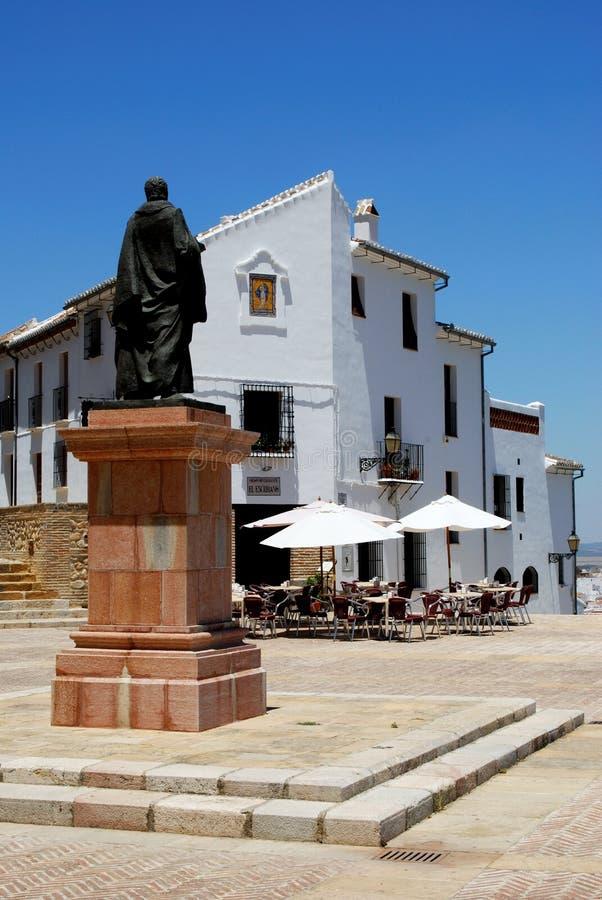 Estatua de Pedro Espinosa, Antequera imágenes de archivo libres de regalías