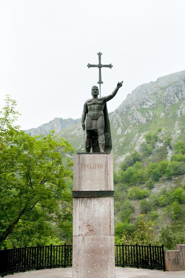 Estatua de Pelayo - Covadonga - España fotos de archivo libres de regalías
