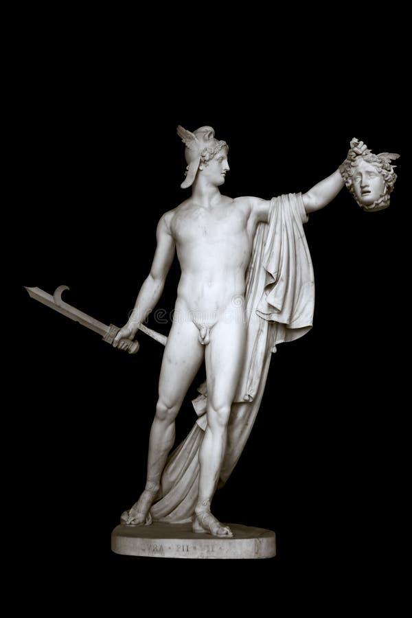 Estatua de Perseus y de la medusa fotos de archivo