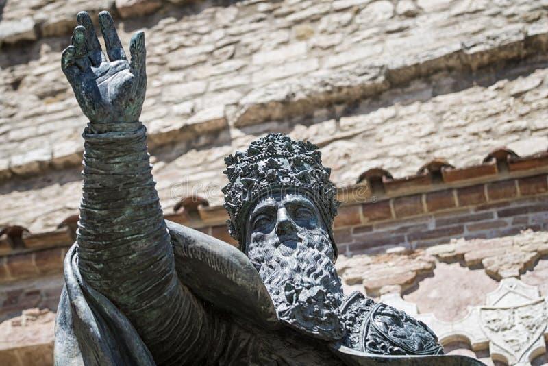 Estatua de Perugia imagen de archivo