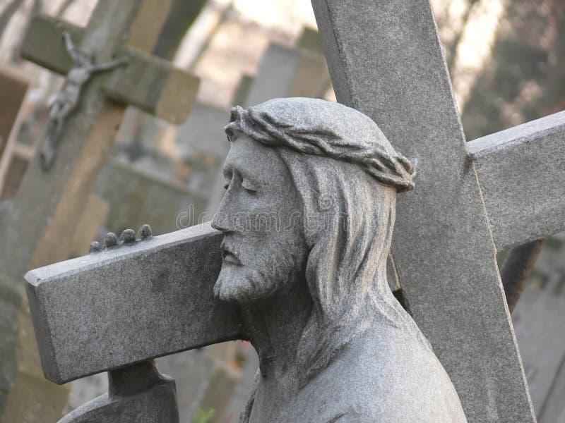 Estatua de piedra de Jesús fotos de archivo