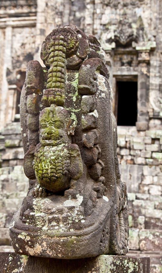 Estatua de piedra en Candi Kalasan en Java. Indonesia. imagenes de archivo