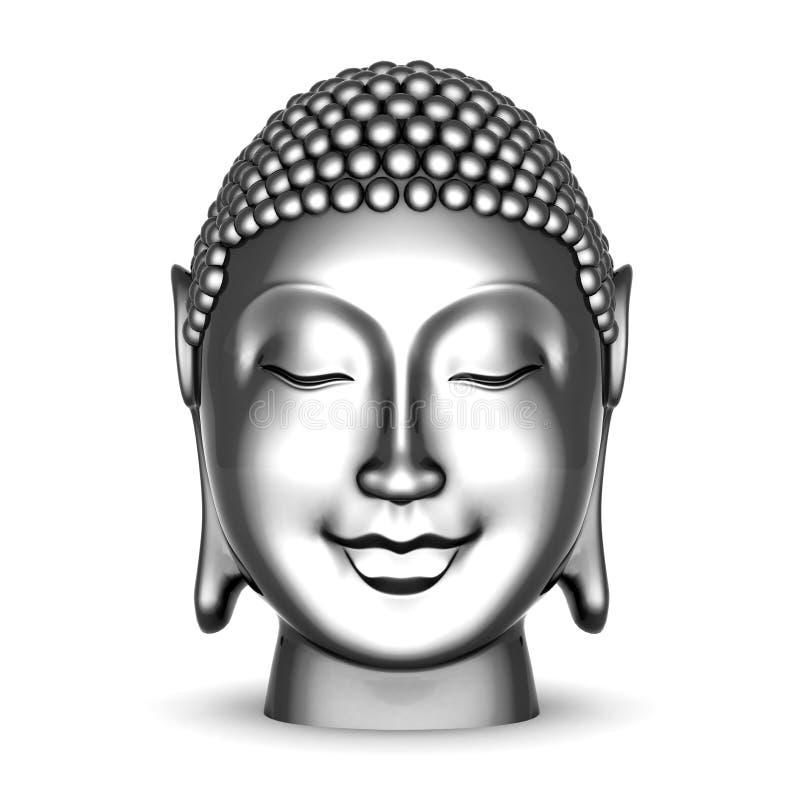 Estatua de plata de Buddha ilustración del vector