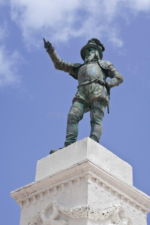 Estatua de Ponce de Leon fotografía de archivo