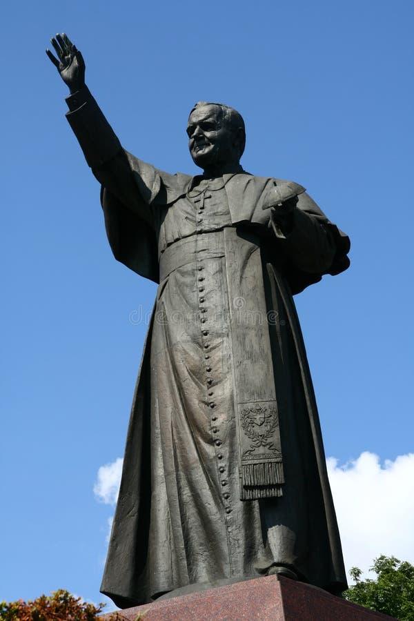 Estatua de Pope John Paul Ii foto de archivo libre de regalías