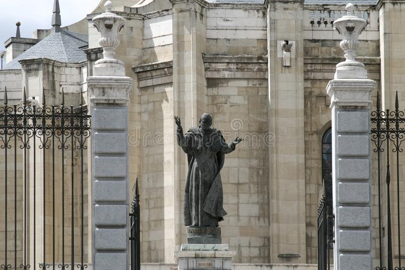 Estatua de Pope John Paul Ii fotos de archivo libres de regalías