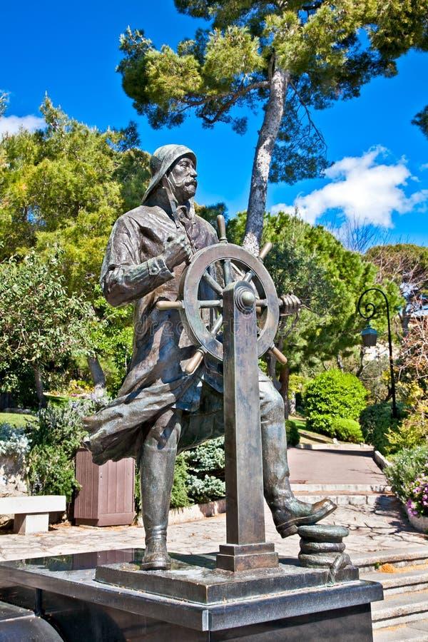 Estatua de príncipe Albert 1r en el santo Martin Park en Monte Carlo fotografía de archivo