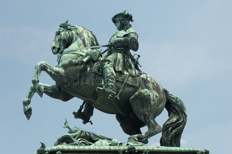 Estatua de príncipe Eugene fotos de archivo