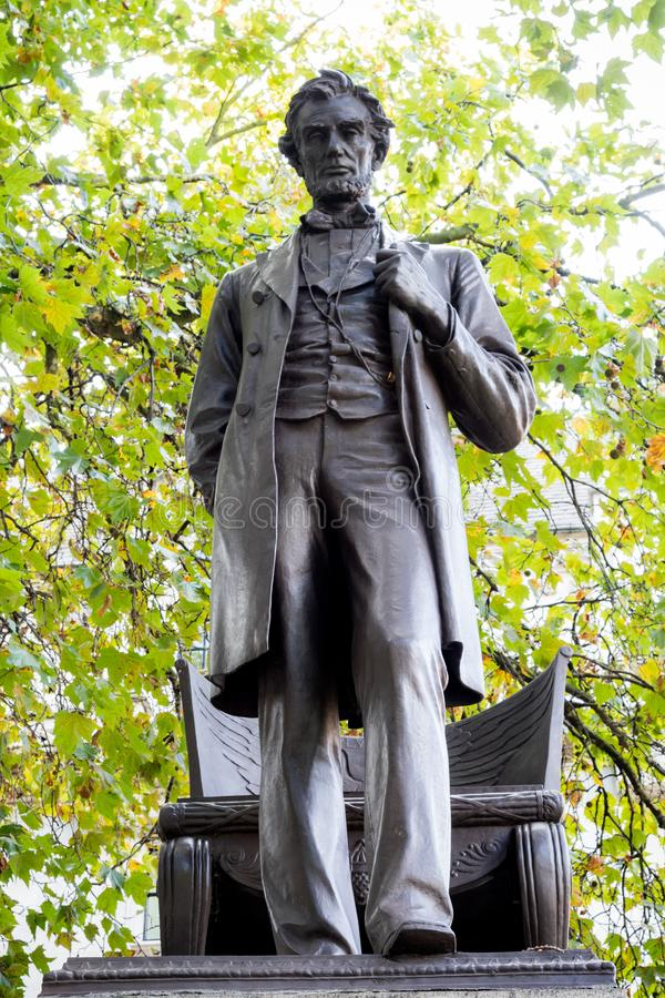 Estatua de presidente Abraham Lincoln fotos de archivo libres de regalías