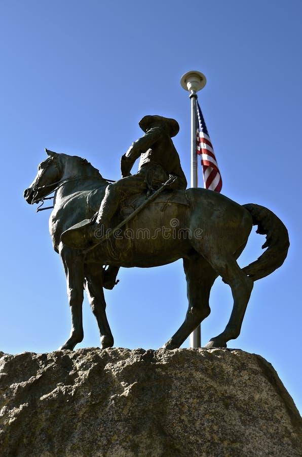 Estatua de presidente Theodore Roosevelt foto de archivo libre de regalías