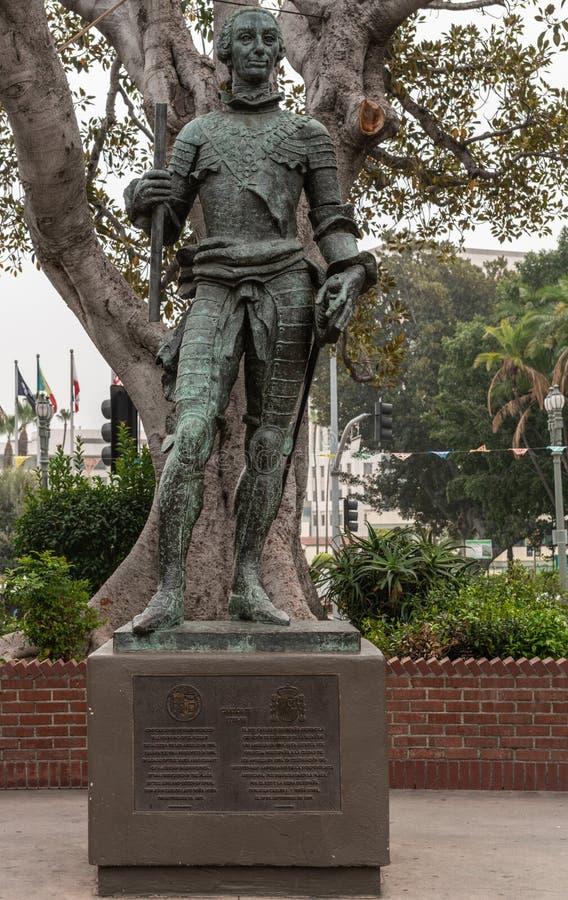 Estatua de rey español Carlos III, fundador de Los Ángeles Califo imágenes de archivo libres de regalías