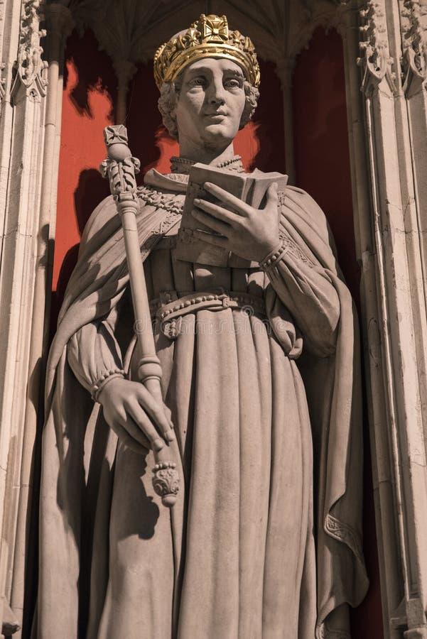 Estatua de rey Henry VI en la iglesia de monasterio de York foto de archivo libre de regalías