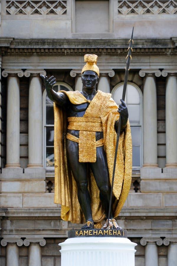 Estatua de rey Kamehameha, Honolulu, Hawaii imagen de archivo libre de regalías