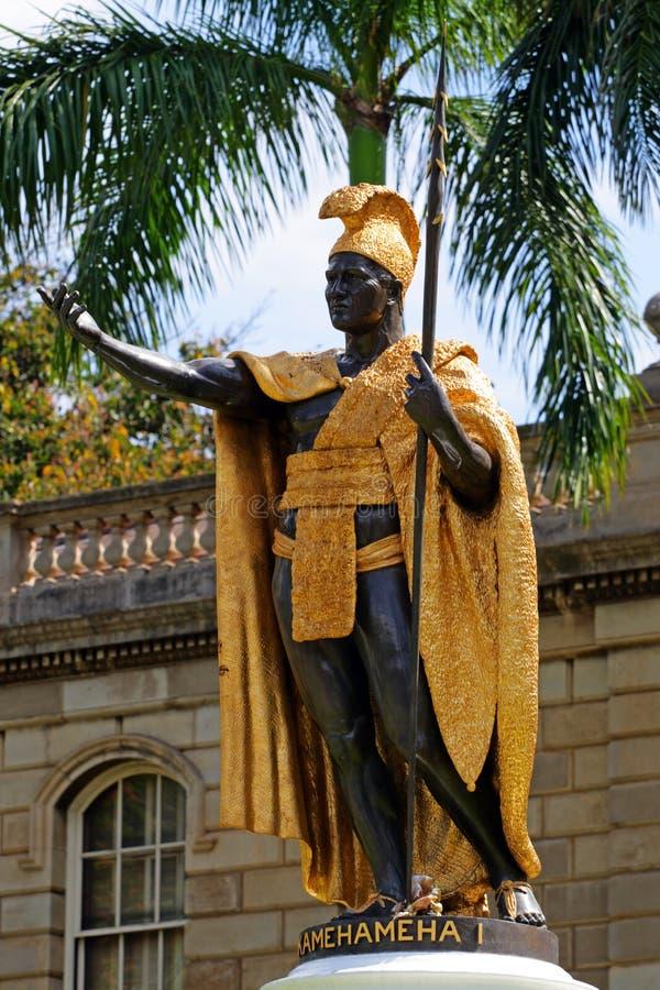 Estatua de rey Kamehameha, Honolulu, Hawaii foto de archivo