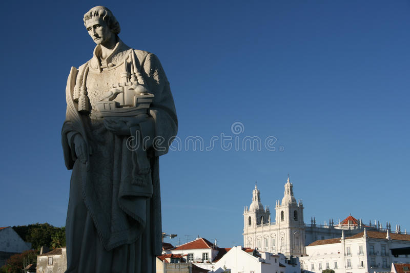 Estatua de rey Manuel I, Lisboa imágenes de archivo libres de regalías