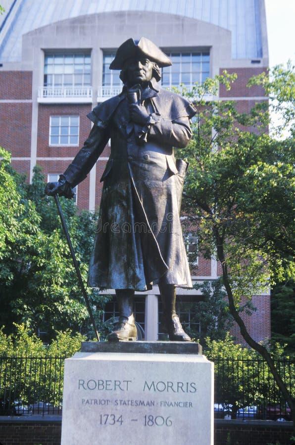Estatua de Robert Morris, del fundador y del firmante de la Declaración de Independencia imágenes de archivo libres de regalías