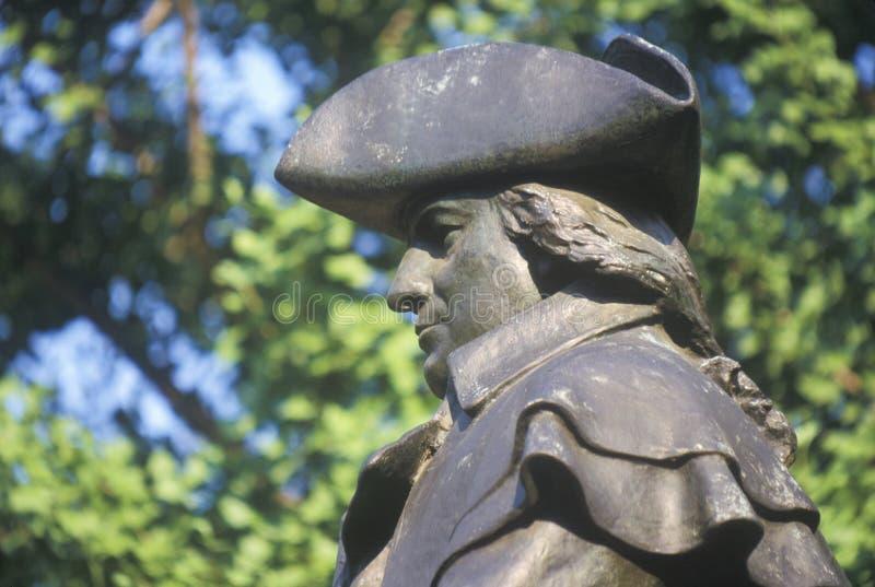 Estatua de Robert Morris, del fundador y del firmante de la Declaración de Independencia foto de archivo libre de regalías