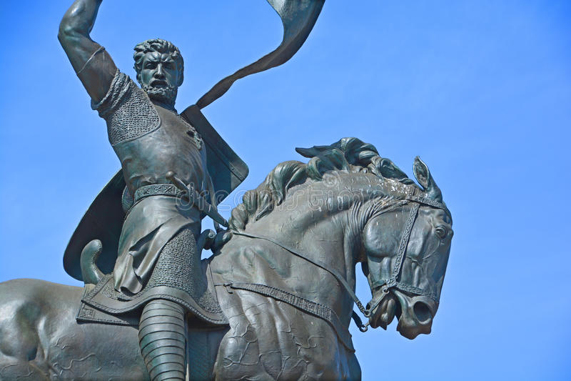 Estatua de Rodrigo Diaz de Vivar fotografía de archivo