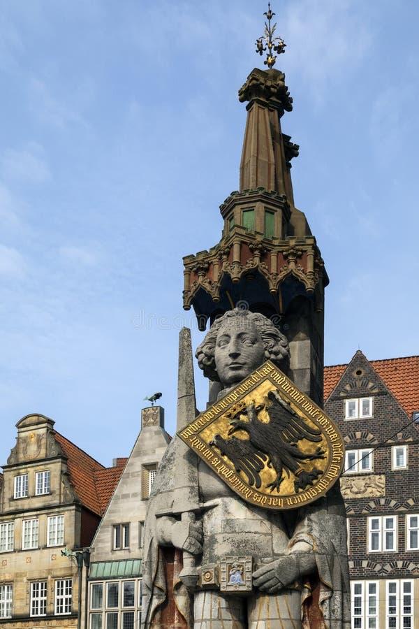 Estatua de Roland - Bremen en Alemania imagen de archivo