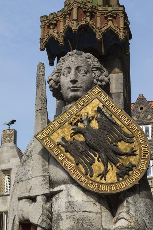 Estatua de Roland - Bremen en Alemania imagen de archivo libre de regalías