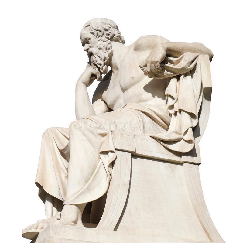 Estatua de Sócrates imagen de archivo libre de regalías