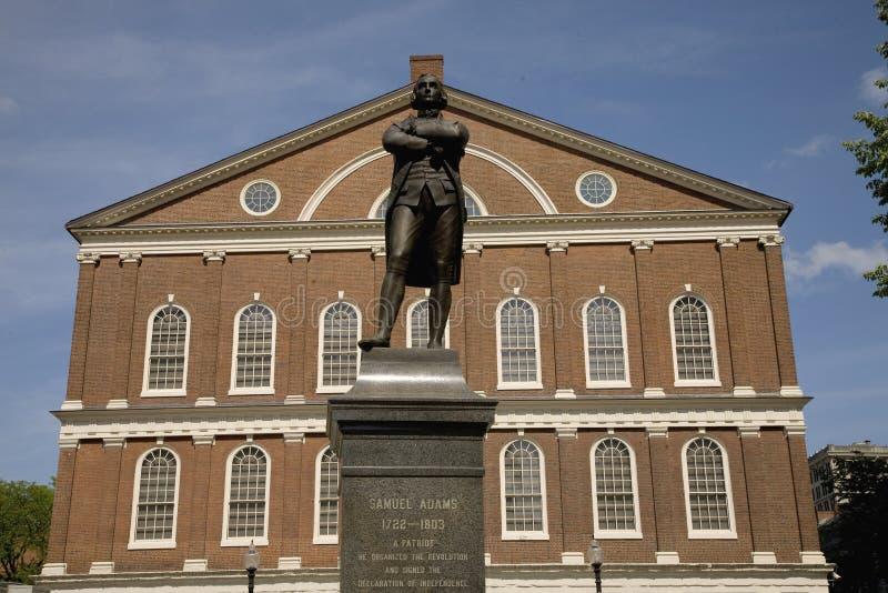Estatua de Samuel Adams fotos de archivo libres de regalías
