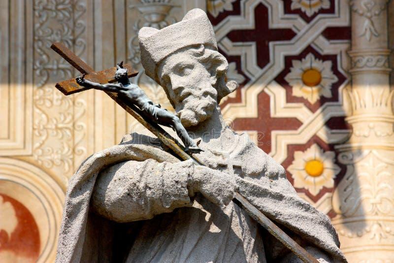 Estatua de San Juan en Italia imagen de archivo