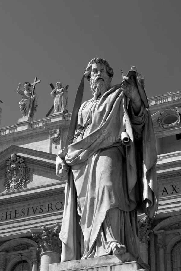 Estatua de San Pablo en Roma fotos de archivo libres de regalías
