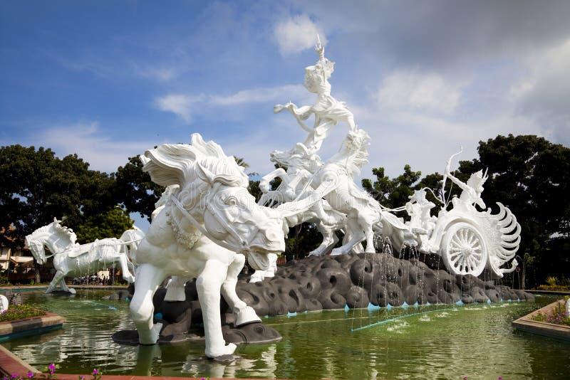 Estatua de Satria Gatotkaca, Bali, Indonesia imagenes de archivo