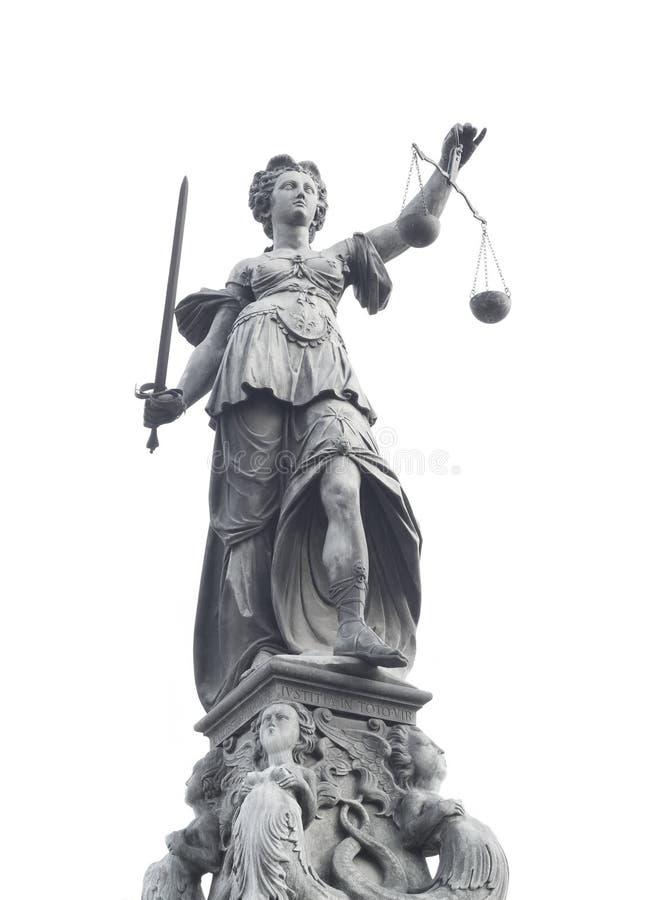 Estatua de señora Justice foto de archivo