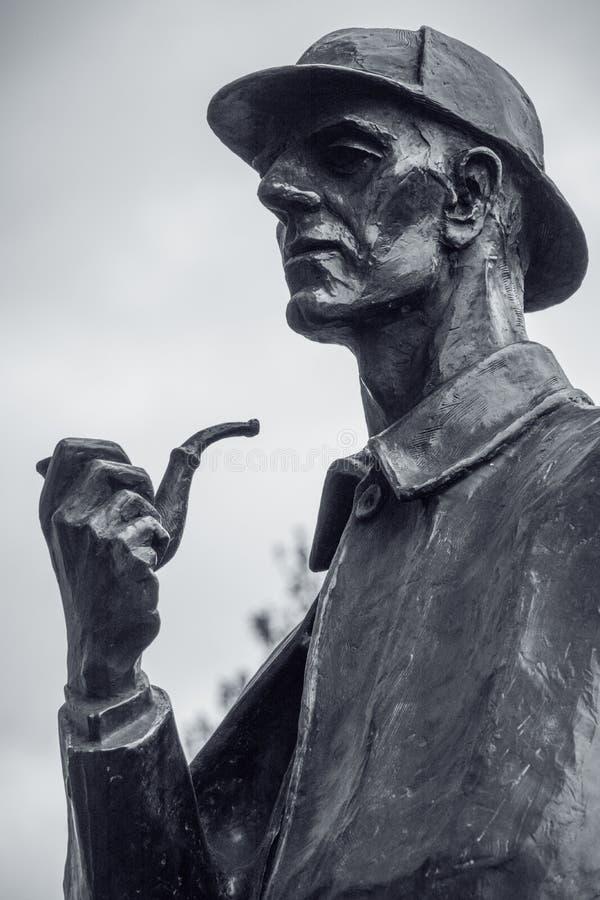 Estatua de Sherlock Holmes en Londres, Inglaterra imagen de archivo libre de regalías