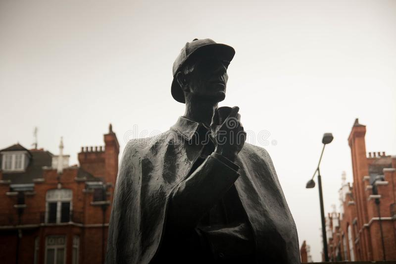 Estatua de Sherlock Holmes, Londres foto de archivo