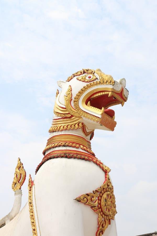 Estatua de Singha imagenes de archivo