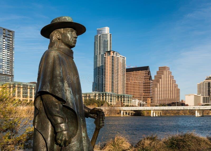 Estatua de Stevie Ray Vaughan fotografía de archivo