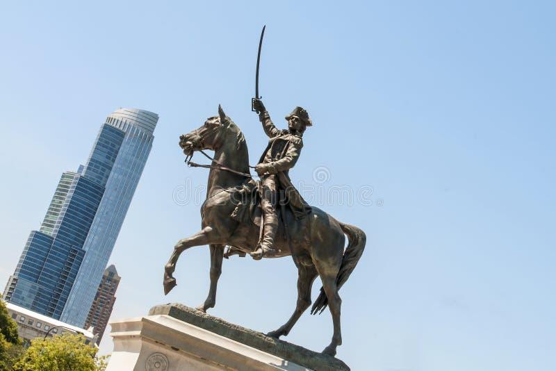 Estatua de Tadeusz Kosciuszko imagenes de archivo