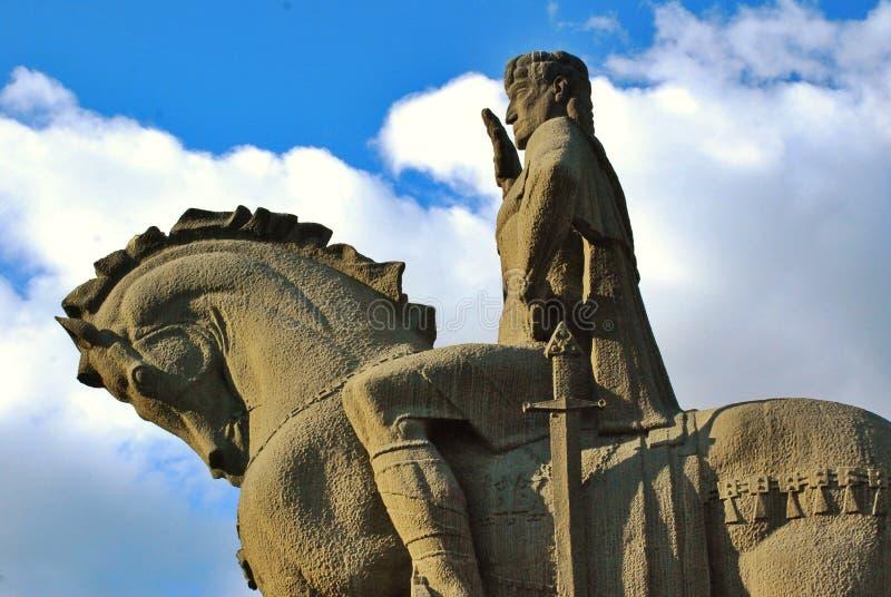 Estatua de Tbilisi, Georgia del conquistador fotos de archivo