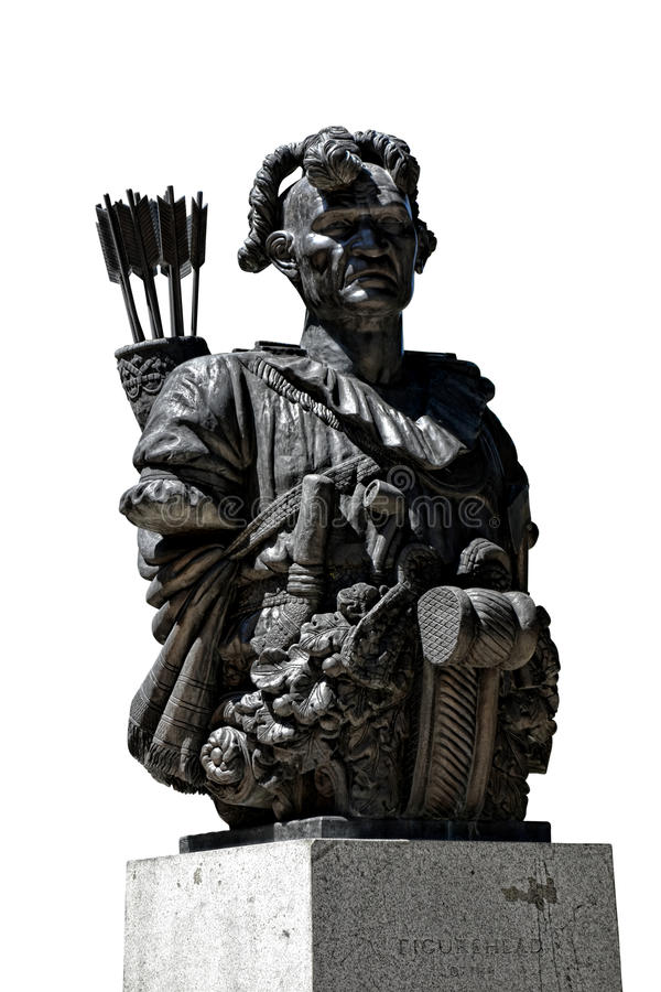 Estatua de TECUMSEH en la Academia Naval de Estados Unidos imagen de archivo libre de regalías