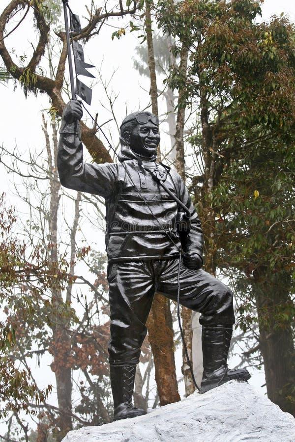 estatua de Tenzing Norgay fotografía de archivo libre de regalías
