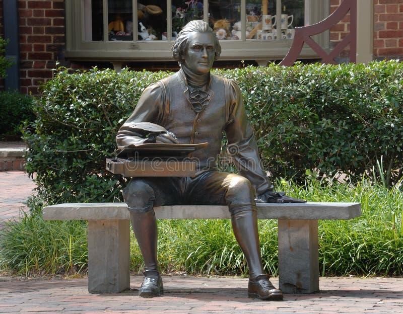Estatua de Thomas Jefferson imagenes de archivo