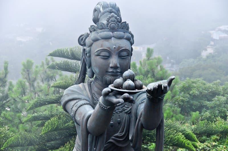 Estatua de Tian Tan Buddha Complex imágenes de archivo libres de regalías
