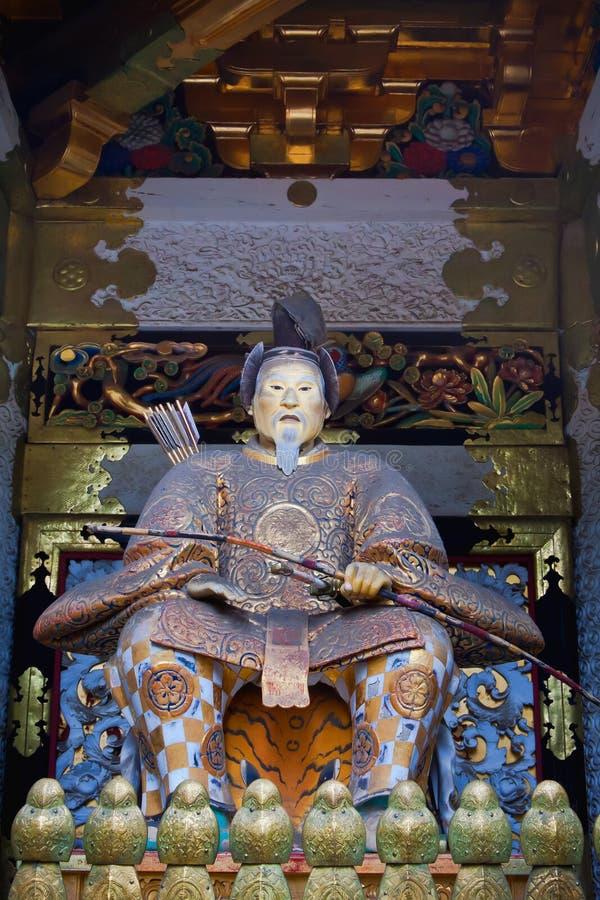 Estatua de Tokugawa Ieyasu foto de archivo libre de regalías