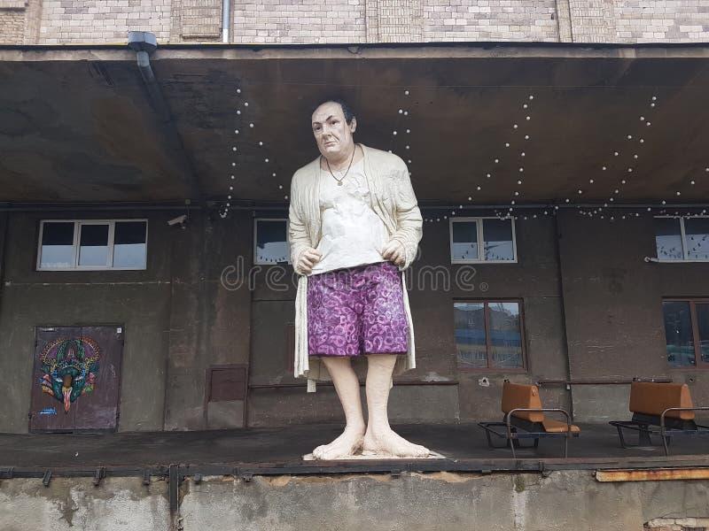 Estatua de Tony Soprano en Vilna foto de archivo libre de regalías