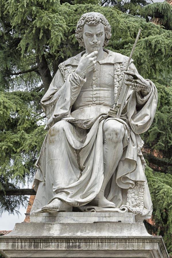 Estatua de Torricelli, inventor del barómetro foto de archivo libre de regalías