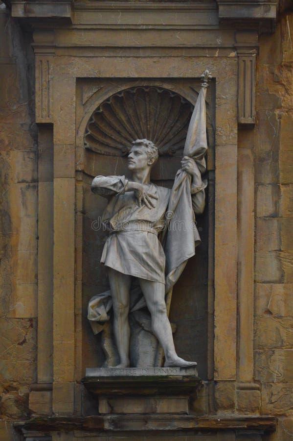 Estatua de un héroe fotografía de archivo