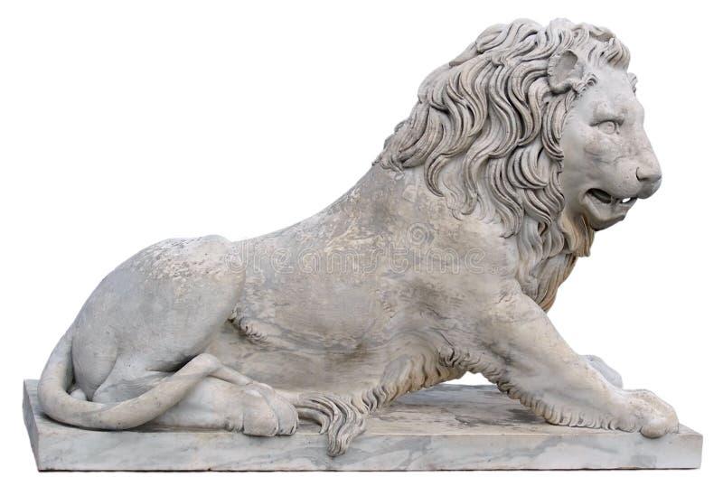 Estatua de un león en Crimea foto de archivo