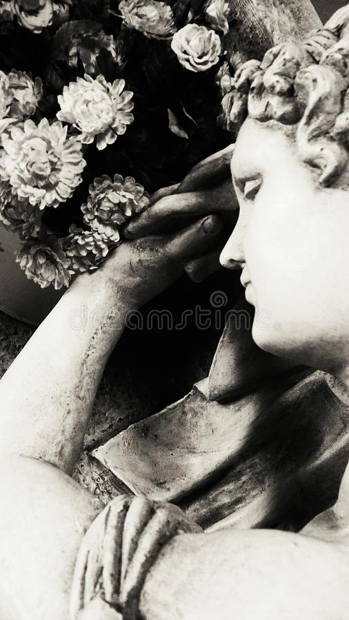 Estatua de una decoración de la mujer imágenes de archivo libres de regalías
