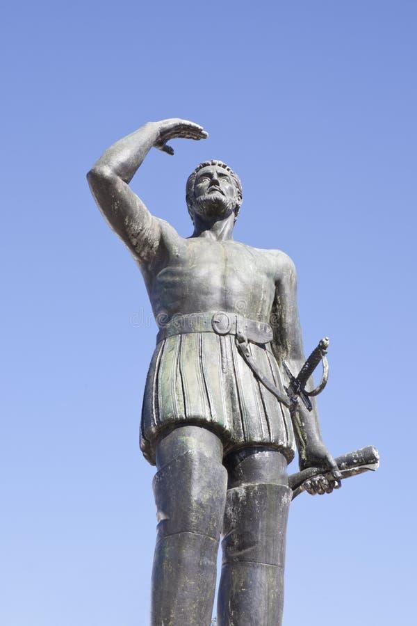 Estatua de Vasco Nunez de Balboa fotos de archivo libres de regalías